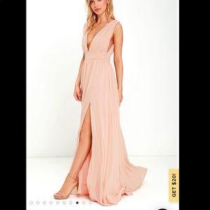 Heavenly Hues Blush Maxi Dress NWT S